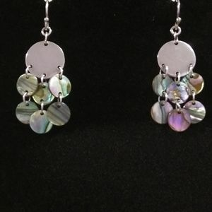 Sterling and abalone shell earrings